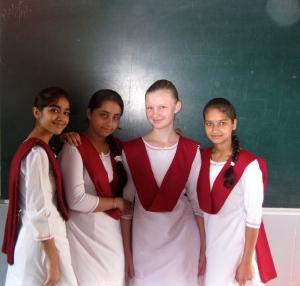 Mit meinen indischen Freundinnen :)