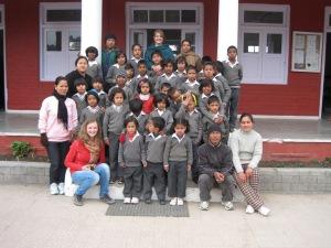 Die Kinder von meiner social work in Shanti Niketan (Subathu).