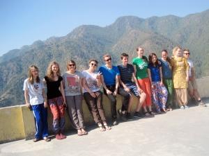 Zusammen auf dem Gangotri-Trip in Uttarakhand mit den anderen Austauschschülern von YFU.